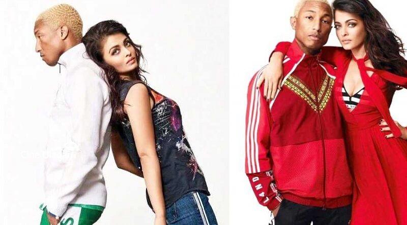 Aishwarya Rai and Pharrell Williams photoshoot_Vogue magazine