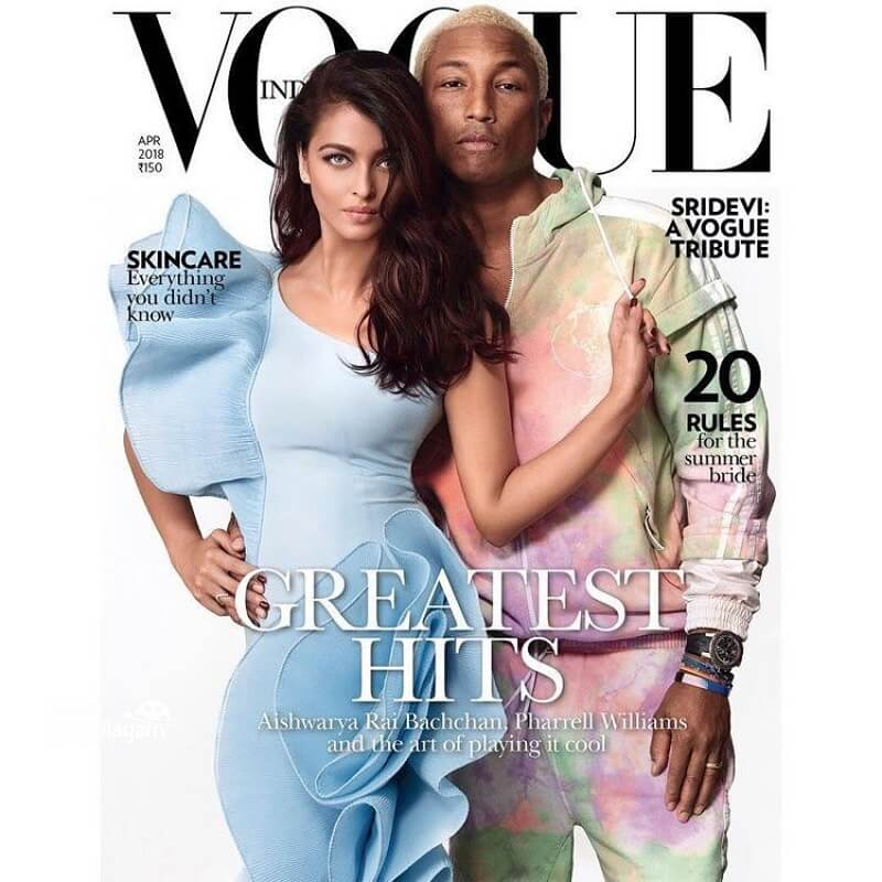 Aishwarya Rai and Pharrell Williams photoshoot_Vogue magazine cover