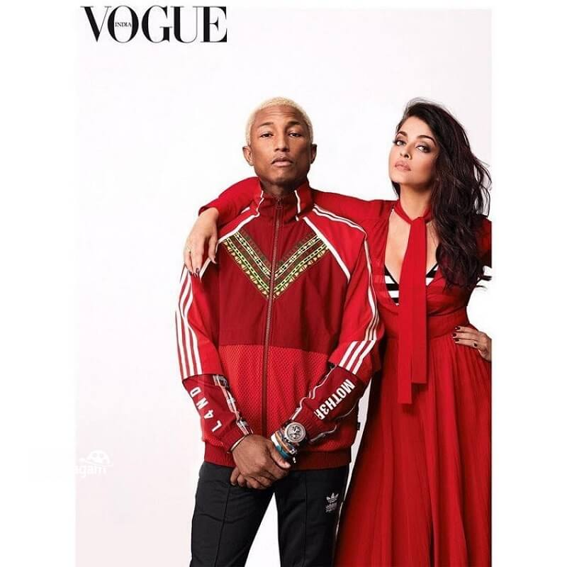 Aishwarya Rai and Pharrell Williams photoshoot_Vogue magazine