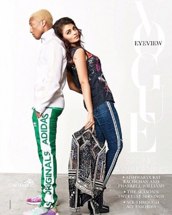 Aishwarya Rai and Pharrell Williams photoshoot_Vogue magazine april 2018